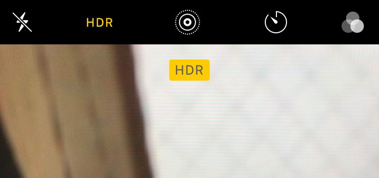 iPhoneカメラ撮影のHDRモードについて