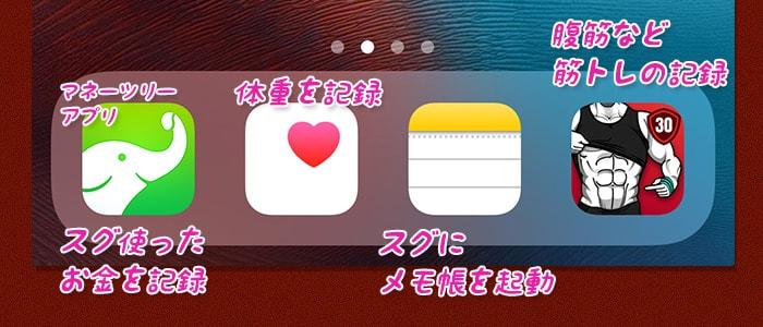 習慣作りにドックに入れたいアプリ