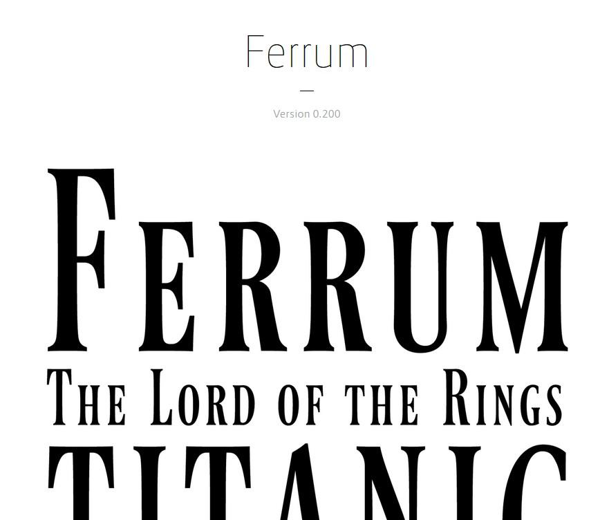 Ferrumフォント