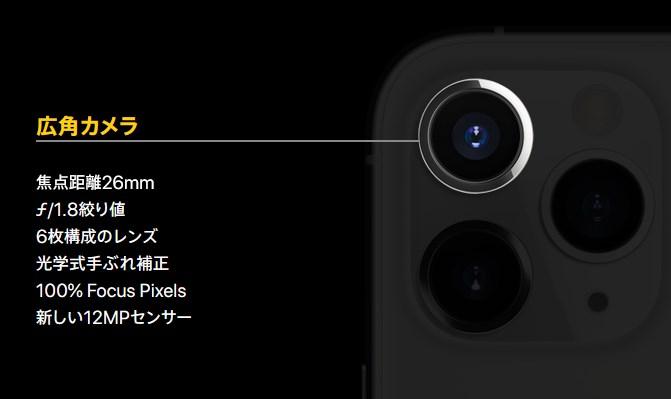 広角カメラ:ワイドカメラ
