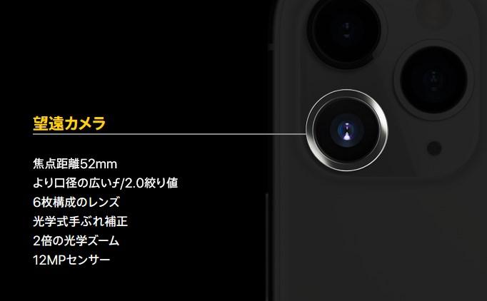 望遠カメラ:ズーム