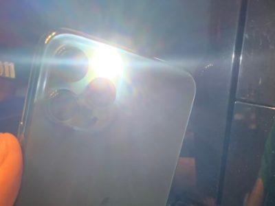 iPhone11Proのフラッシュライト