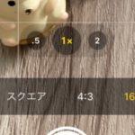 iPhoneカメラの機能でも撮影比率調整できる