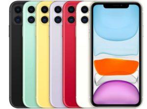 iPhone11の明るいカラーリング