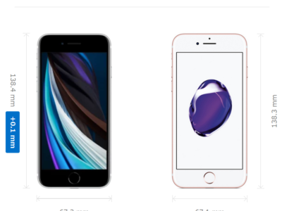 iPhoneSEとiPhone7の比較