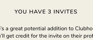 招待枠が3人の表示